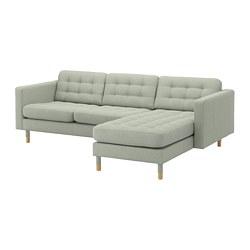 LANDSKRONA - 三座位梳化, 連躺椅/Gunnared 淺綠色/木 | IKEA 香港及澳門 - PE680328_S3