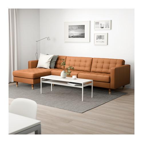 LANDSKRONA - 四座位梳化, 連躺椅/Grann/Bomstad 柚木色/金屬   IKEA 香港及澳門 - PE680336_S4