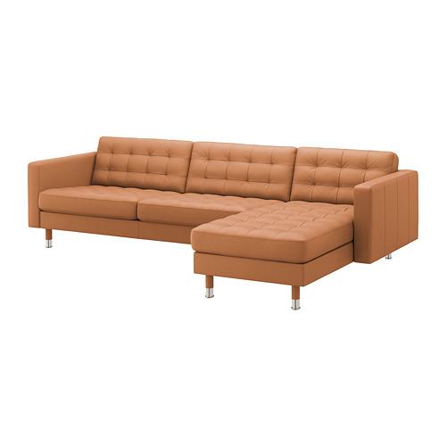 LANDSKRONA - 四座位梳化, 連躺椅/Grann/Bomstad 柚木色/金屬   IKEA 香港及澳門 - PE680335_S4