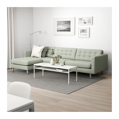 LANDSKRONA - 4-seat sofa, with chaise longue/Gunnared light green/metal | IKEA Hong Kong and Macau - PE680346_S4
