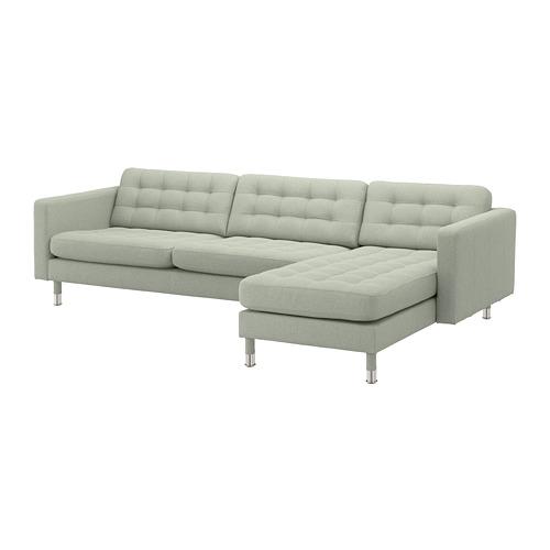 LANDSKRONA - 4-seat sofa, with chaise longue/Gunnared light green/metal | IKEA Hong Kong and Macau - PE680345_S4