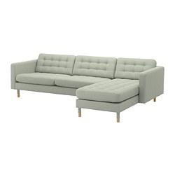 LANDSKRONA - 四座位梳化, 連躺椅/Gunnared 淺綠色/木 | IKEA 香港及澳門 - PE680347_S3