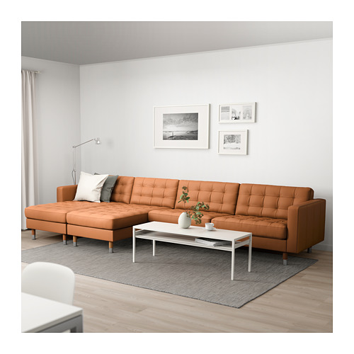 LANDSKRONA - 5-seat sofa, with chaise longues/Grann/Bomstad golden-brown/metal | IKEA Hong Kong and Macau - PE680399_S4