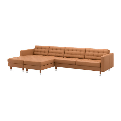 LANDSKRONA - 5-seat sofa, with chaise longues/Grann/Bomstad golden-brown/metal | IKEA Hong Kong and Macau - PE680398_S4