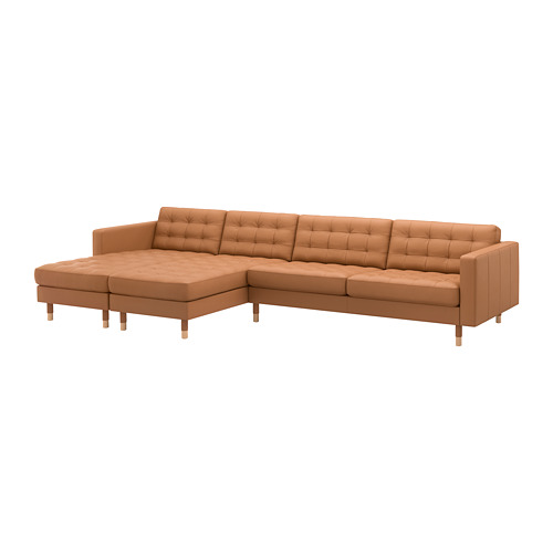 LANDSKRONA - 5-seat sofa, with chaise longues/Grann/Bomstad golden-brown/wood | IKEA Hong Kong and Macau - PE680400_S4
