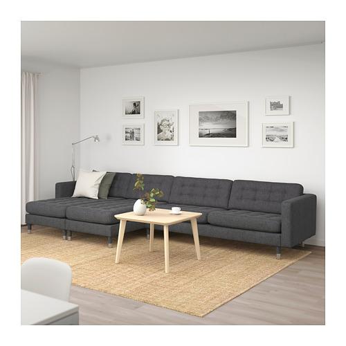 LANDSKRONA - 5-seat sofa, with chaise longues/Gunnared dark grey/metal | IKEA Hong Kong and Macau - PE680403_S4