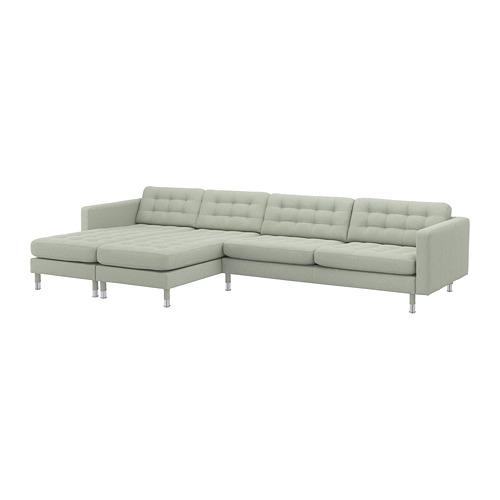 LANDSKRONA - 5-seat sofa, with chaise longues/Gunnared light green/metal | IKEA Hong Kong and Macau - PE680406_S4