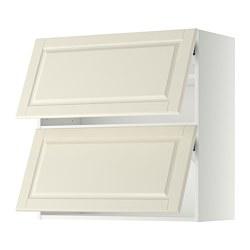 METOD - wall cabinet horizontal w 2 doors, white/Bodbyn off-white | IKEA Hong Kong and Macau - PE357612_S3