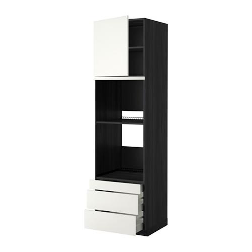 METOD - 焗爐用高櫃連抽屜櫃門組合, 黑色 Maximera/Häggeby 白色 | IKEA 香港及澳門 - PE357046_S4