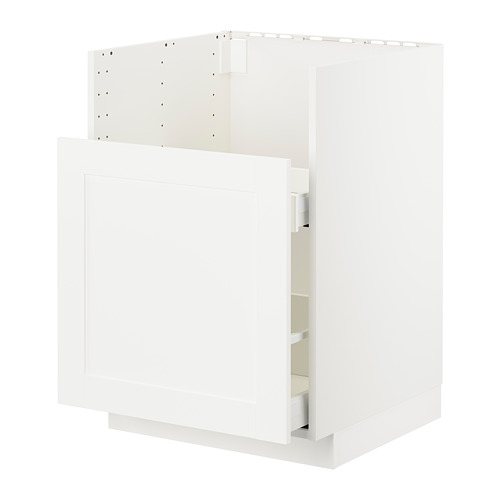 METOD/MAXIMERA - BREDSJÖN星盆用地櫃/1面板/2抽屜, white/Sävedal white | IKEA 香港及澳門 - PE724433_S4