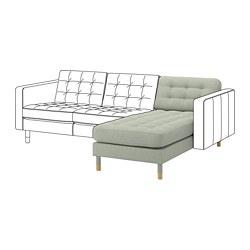 LANDSKRONA - 躺椅(組合用), Gunnared 淺綠色/木 | IKEA 香港及澳門 - PE680440_S3