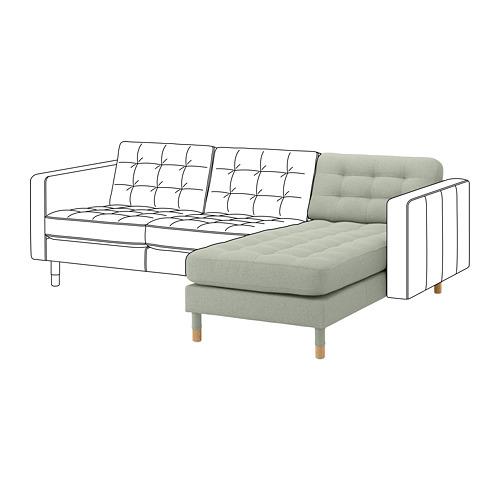 LANDSKRONA - chaise longue, add-on unit, Gunnared light green/wood | IKEA Hong Kong and Macau - PE680440_S4