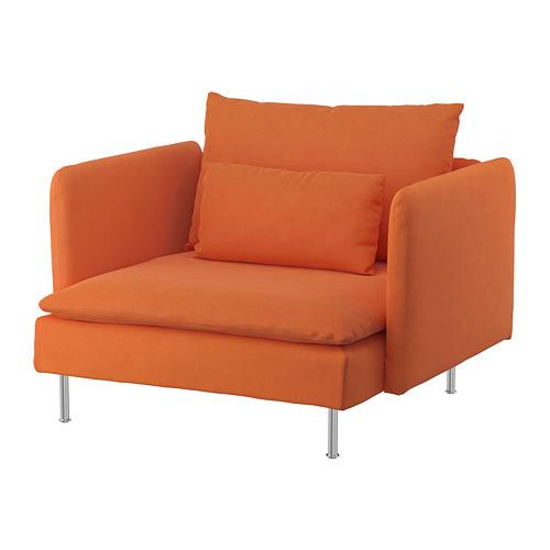 SÖDERHAMN - armchair, Samsta orange | IKEA Hong Kong and Macau - PE768535_S4