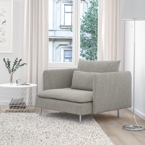 SÖDERHAMN - armchair, viarp beige/brown | IKEA Hong Kong and Macau - PE768534_S4