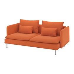 SÖDERHAMN - 3-seat sofa, Samsta orange | IKEA Hong Kong and Macau - PE768545_S3