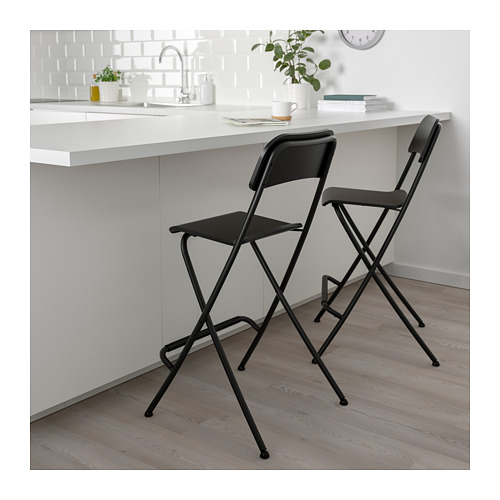 FRANKLIN bar stool with backrest, foldable