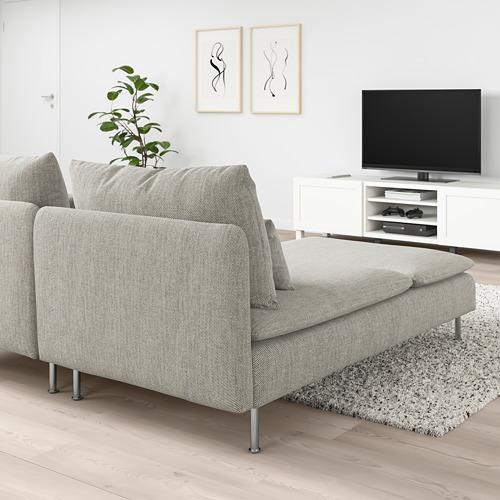 SÖDERHAMN - 2-seat sofa, with chaise longue/Viarp beige/brown | IKEA Hong Kong and Macau - PE768552_S4