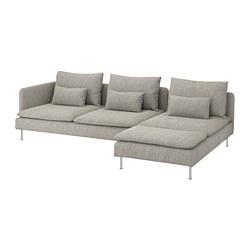 SÖDERHAMN - 四座位梳化, with chaise longue and open end/Viarp beige/brown | IKEA 香港及澳門 - PE768561_S3