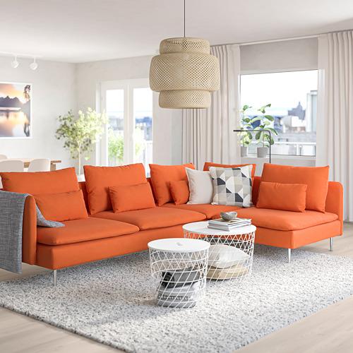 SÖDERHAMN - corner sofa, 4-seat, with open end/Samsta orange | IKEA Hong Kong and Macau - PE768573_S4