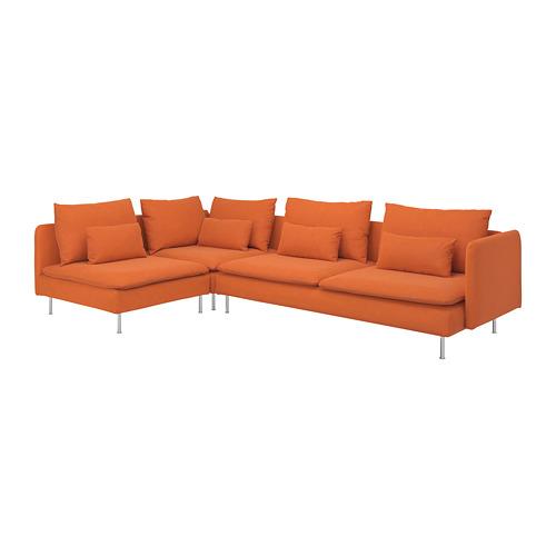 SÖDERHAMN - corner sofa, 4-seat, with open end/Samsta orange | IKEA Hong Kong and Macau - PE768577_S4