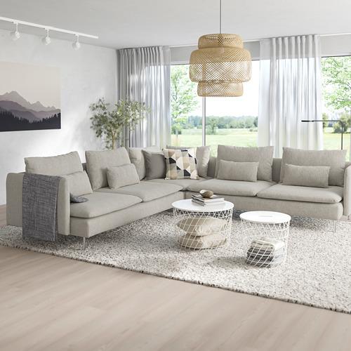 SÖDERHAMN - corner sofa, 6-seat, Viarp beige/brown | IKEA Hong Kong and Macau - PE768586_S4