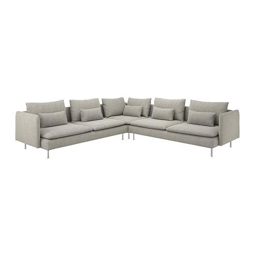 SÖDERHAMN - corner sofa, 6-seat, Viarp beige/brown | IKEA Hong Kong and Macau - PE768584_S4