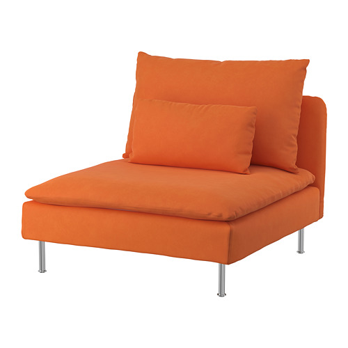 SÖDERHAMN - cover for 1-seat section, Samsta orange | IKEA Hong Kong and Macau - PE768591_S4