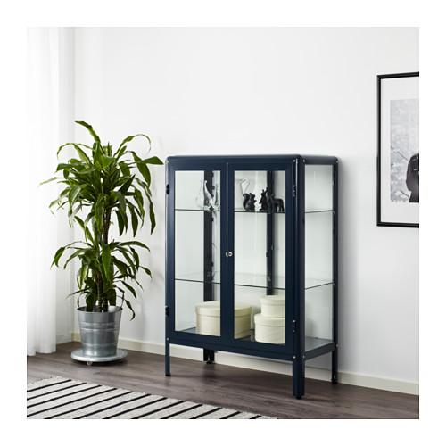 FABRIKÖR - glass-door cabinet, black-blue | IKEA Hong Kong and Macau - PE632347_S4