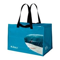 RUMPLING - 購物袋,大, 藍色/鯊魚   IKEA 香港及澳門 - PE824985_S3