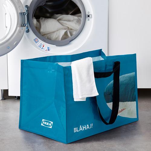 RUMPLING - 購物袋,大, 藍色/鯊魚   IKEA 香港及澳門 - PE824988_S4