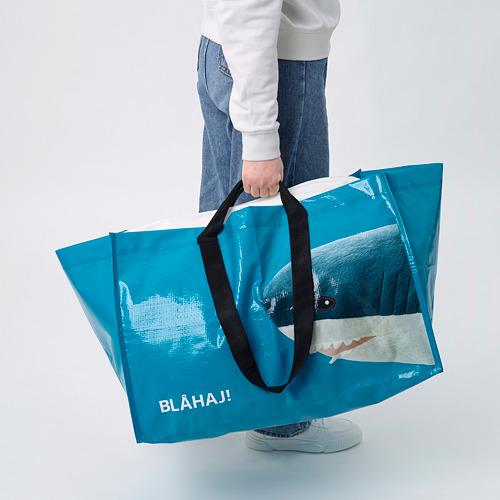 RUMPLING - 購物袋,大, 藍色/鯊魚   IKEA 香港及澳門 - PE824987_S4