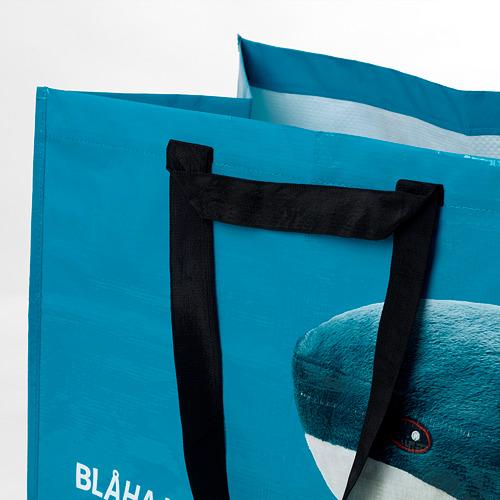 RUMPLING - 購物袋,大, 藍色/鯊魚   IKEA 香港及澳門 - PE824986_S4