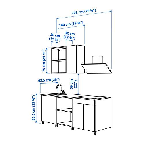 ENHET - 廚房, 炭黑色/仿混凝土   IKEA 香港及澳門 - PE825006_S4