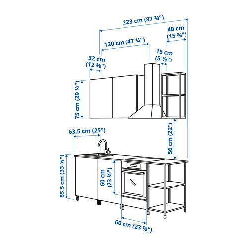 ENHET - 廚房, 白色/灰色 框架   IKEA 香港及澳門 - PE825015_S4
