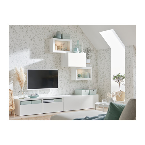 BESTÅ - 電視貯物組合/玻璃門, white/Lappviken white clear glass | IKEA 香港及澳門 - PH163267_S4