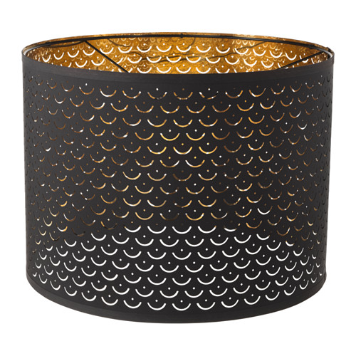 NYMÖ - 燈罩, 黑色/黃銅色 | IKEA 香港及澳門 - PE632555_S4