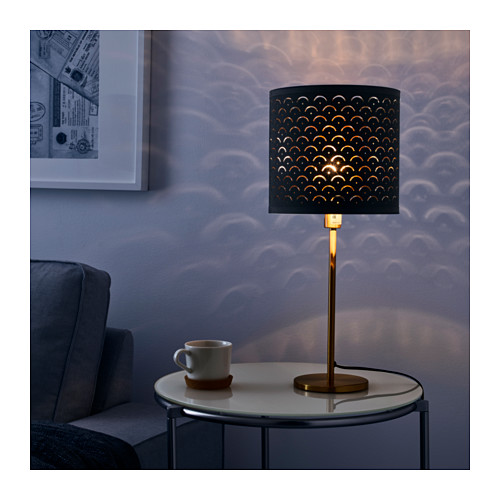 NYMÖ - 燈罩, 黑色/黃銅色   IKEA 香港及澳門 - PE632564_S4