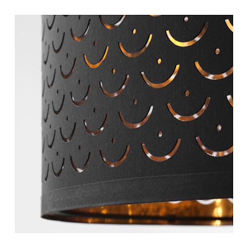 NYMÖ - 燈罩, 黑色/黃銅色 | IKEA 香港及澳門 - PE632573_S4