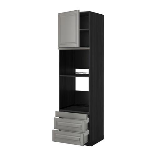 METOD - 焗爐用高櫃連抽屜櫃門組合, 黑色 Förvara/Bodbyn 灰色 | IKEA 香港及澳門 - PE352463_S4
