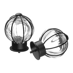 BLÅST - finials, 1 pair, black | IKEA Hong Kong and Macau - PE680805_S3