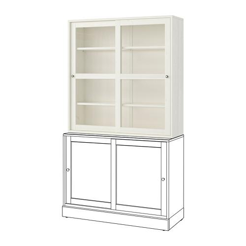 HAVSTA - 玻璃門貯物櫃, 白色 | IKEA 香港及澳門 - PE724818_S4