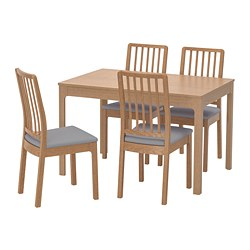EKEDALEN/EKEDALEN - 一檯四椅, 橡木/Orrsta 淺灰色 | IKEA 香港及澳門 - PE724931_S3