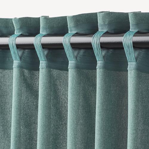 HANNALENA - 半遮光窗簾,一對, 綠藍色   IKEA 香港及澳門 - PE769374_S4