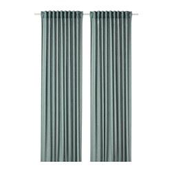 HANNALENA - 半遮光窗簾,一對, 綠藍色 | IKEA 香港及澳門 - PE769376_S3