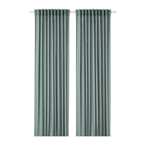 HANNALENA - 半遮光窗簾,一對, 綠藍色   IKEA 香港及澳門 - PE769376_S4