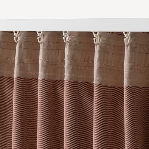 TIBAST - room darkening curtains, 1 pair, dark red | IKEA Hong Kong and Macau - PE769390_S4