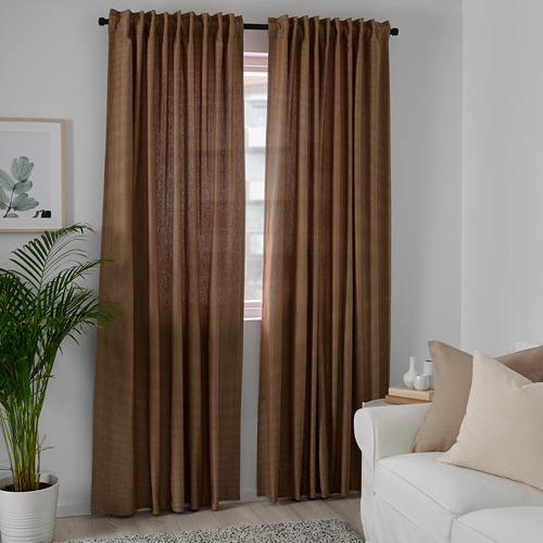 TIBAST - room darkening curtains, 1 pair, dark red | IKEA Hong Kong and Macau - PE769393_S4