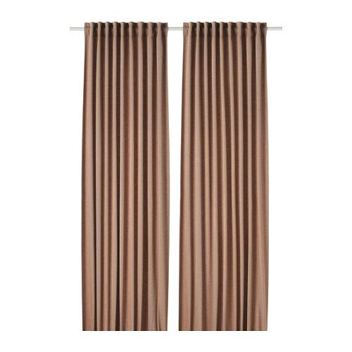 TIBAST - room darkening curtains, 1 pair, dark red | IKEA Hong Kong and Macau - PE769343_S4