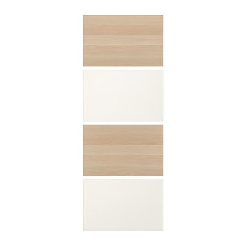 MEHAMN - 4 panels for sliding door frame, white stained oak effect/white   IKEA Hong Kong and Macau - PE724948_S4