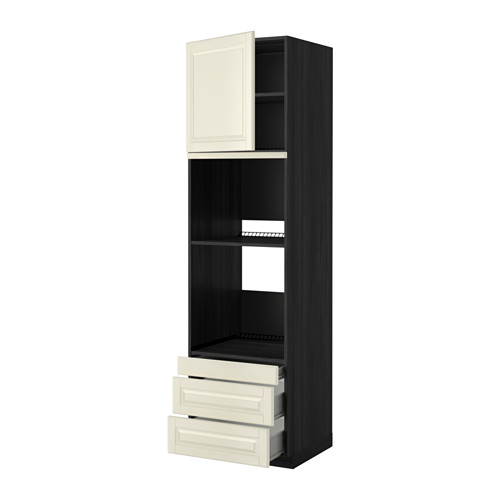 METOD - 焗爐用高櫃連抽屜櫃門組合, 黑色 Förvara/Bodbyn 灰白色   IKEA 香港及澳門 - PE352464_S4